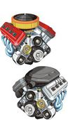 Car engines — Stockvector
