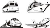 Transportation passenger — Stock Vector