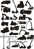 Construction silhouettes — Vector de stock