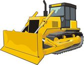 Construction bulldozer — Stock Vector