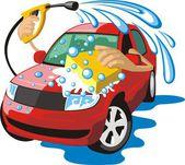 Car washing — Stock Vector