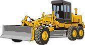 Wheel wheel bulldozer — Stock Vector