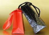 Colorful bags for gifts and shopping — Stok fotoğraf