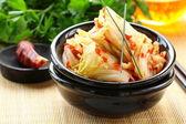 Korean cabbage kimchi with hot pepper — Stock Photo