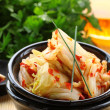 Korean cabbage kimchi with hot pepper — Stock Photo #13526863