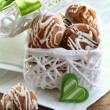Christmas cookies with white chocolate in a gift box — Stock Photo #13719087