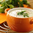 Cream soup of cauliflower with black pepper and parsley — Stock Photo #15363379
