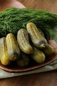 Pickles salted cucumbers pickled vegetables still-life — Stock Photo