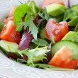 Salad mix with avocado tomato and cucumber — Stock Photo #18551119