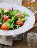 Salad mix with avocado tomato and cucumber — Stock Photo