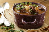 Traditional french beef goulash - Boeuf bourguignon — Stock Photo