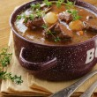 Stock Photo: Traditional french beef goulash - Boeuf bourguignon
