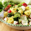 Stock Photo: Potato salad with cucumber and radish