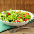 Fresh green salad with tomatoes and asparagus - Lizenzfreies Foto
