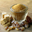 Assorted brown sugar - sand, crystal and refined — Stock Photo #24583959
