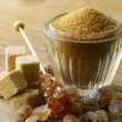 Assorted brown sugar - sand, crystal and refined — Stock Photo #24807645