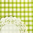 Kitchen towel in the green checkered - to use as a background — Stock Photo