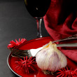 Stylistic table setting for a holiday Halloween — Stock Photo