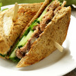 Tuna sandwich with cucumber and lettuce — Stock Photo