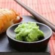 Wasabi mustard sauce for Japanese food — Stock Photo