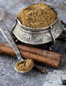 Indian mix of ground spices garam masala — Stock Photo