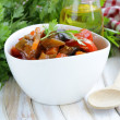 Stock Photo: Vegetable ragout (ratatouille) paprika, eggplant and carrots