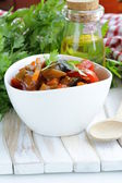 Vegetable ragout (ratatouille) paprika, eggplant and carrots — Stock Photo