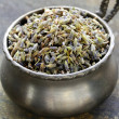 Stock Photo: Macro shot fragrant violet lavender dried condiment
