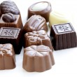 Delicious gourmet chocolate candy  sweet present — Stock Photo