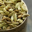 Stock Photo: Macro shot fennel seeds, aromatic spice seasoning