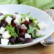Stock Photo: Salad with beetroot and soft fetcheese and arugula