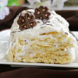White layer cake with custard (Napoleon) — Stock Photo #33258495