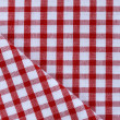 Kitchen towel in the red checkered — Stock Photo