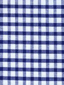 Kitchen towel in the blue checkered - use as a background — Stock Photo