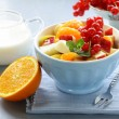 Fruit salad with orange — Stock Photo