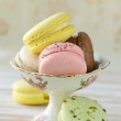 Stock Photo: French multicolored macaroons