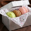 French multicolored macaroons — Stock Photo