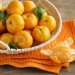 Fresh ripe orange mandarins (tangerines) — Stock Photo #34570417