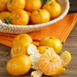 Fresh ripe orange mandarins (tangerines) — Stock Photo #34570489