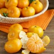 Fresh ripe orange mandarins (tangerines) — Stock Photo