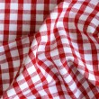Kitchen towel in the red checkered — Stock Photo #34964651