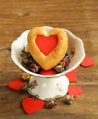 Muffins in the shape of a heart — Stock Photo