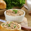 Chicken liver pate with parsley — Stock Photo