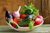 Autumn harvest vegetables — Stock Photo