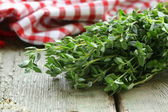 Bunch of fresh green thyme — ストック写真