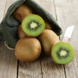 Tropical fruit fresh sweet ripe kiwi — Stock Photo