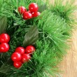 Stock Photo: Border of green branches Christmas tree