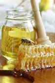 Natural organic sweet honeycomb — Foto Stock