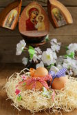 Decorative easter eggs — Stock Photo