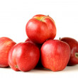 Stock Photo: Fresh organic ripe red apples on white background